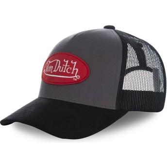 Cappellino trucker nero SUEDE2 di Von Dutch