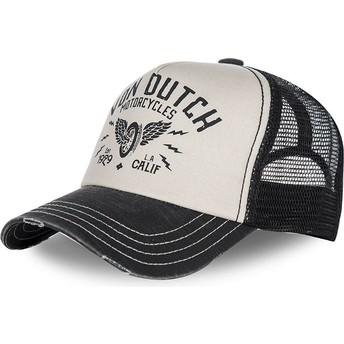 Cappellino visiera curva bianco e nero regolabile CREW2 di Von Dutch