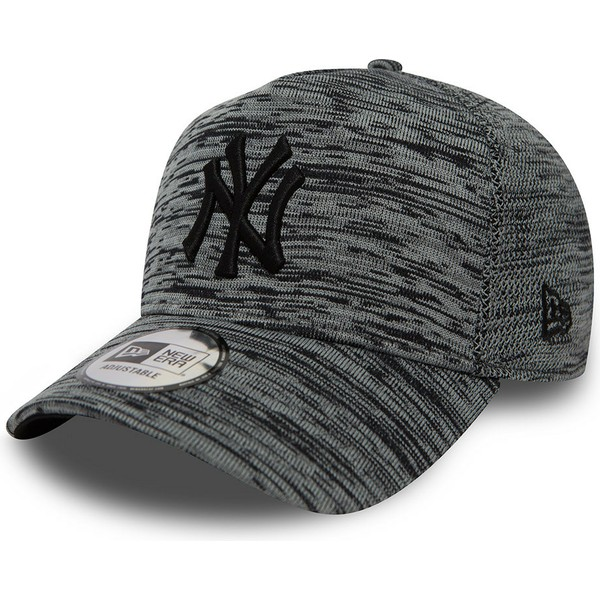 cappellino-visiera-curva-grigio-venato-snapback-di-new-york-yankees-mlb-engineered-fit-a-frame-di-new-era