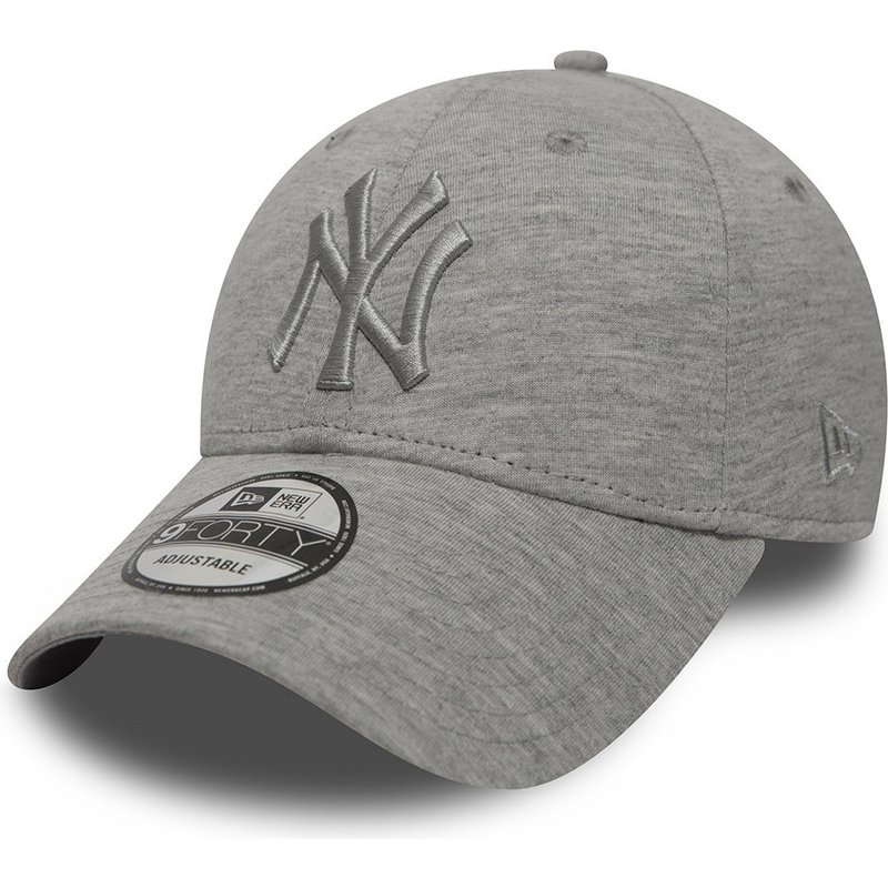 cappellino-visiera-curva-grigio-regolabile-con-logo-grigio-di-new-york-yankees-mlb-9forty-essential-di-new-era