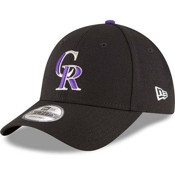 Cappellino visiera curva nero regolabile 9FORTY The League di Colorado Rockies MLB di New Era
