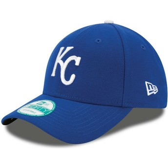 Cappellino visiera curva blu regolabile 9FORTY The League di Kansas City Royals MLB di New Era
