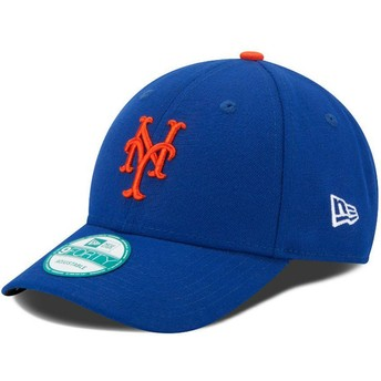 Cappellino visiera curva blu regolabile 9FORTY The League di New York Mets MLB di New Era