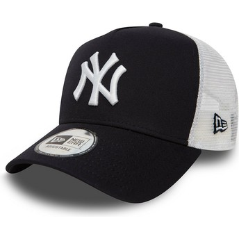 Cappellino trucker blu marino Clean A Frame 2 di New York Yankees MLB di New Era