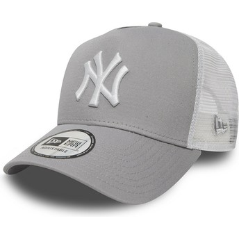 Cappellino trucker grigio Clean A Frame 2 di New York Yankees MLB di New Era
