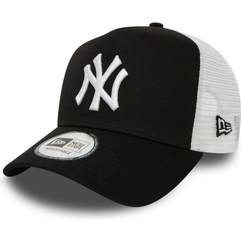 Cappellino trucker nero Clean A Frame 2 di New York Yankees MLB di New Era