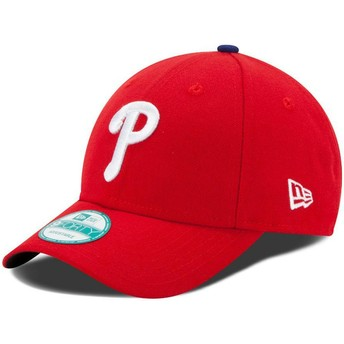 Cappellino visiera curva rosso regolabile 9FORTY The League di Philadelphia Phillies MLB di New Era