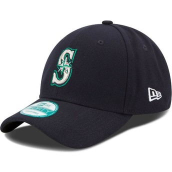 Cappellino visiera curva blu marino regolabile 9FORTY The League di Seattle Mariners MLB di New Era