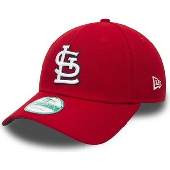 Cappellino visiera curva rosso regolabile 9FORTY The League di St. Louis Cardinals MLB di New Era