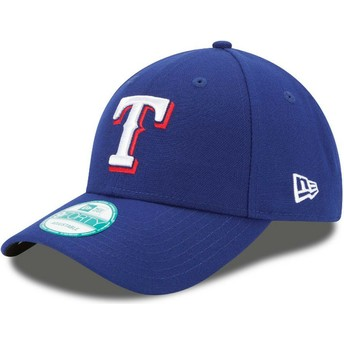 Cappellino visiera curva blu regolabile 9FORTY The League di Texas Rangers MLB di New Era