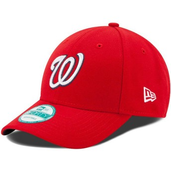Cappellino visiera curva rosso regolabile 9FORTY The League di Washington Nationals MLB di New Era