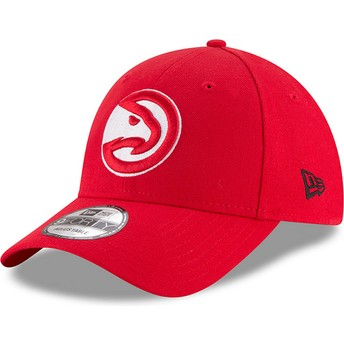 Cappellino visiera curva rosso regolabile 9FORTY The League di Atlanta Hawks NBA di New Era