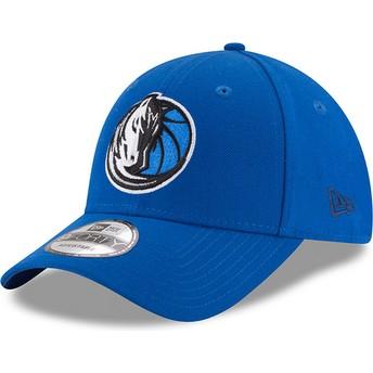 Cappellino visiera curva blu regolabile 9FORTY The League di Dallas Mavericks NBA di New Era