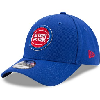 Cappellino visiera curva blu regolabile 9FORTY The League di Detroit Pistons NBA di New Era