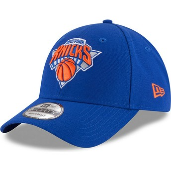 Cappellino visiera curva blu regolabile 9FORTY The League di New York Knicks NBA di New Era
