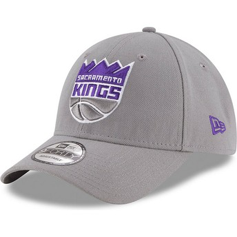 Cappellino visiera curva grigio regolabile 9FORTY The League di Sacramento Kings NBA di New Era
