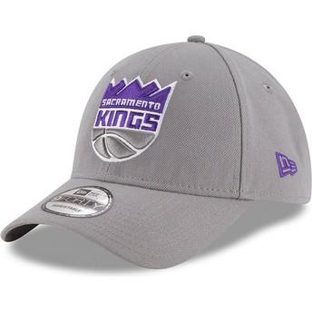 Cappellino visiera curva grigio regolabile 9FORTY The League di Sacramento Kings NBA di New Era