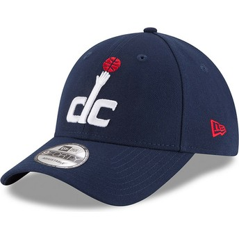 Cappellino visiera curva blu marino regolabile 9FORTY The League di Washington Wizards NBA di New Era