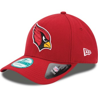 Cappellino visiera curva rosso regolabile 9FORTY The League di Arizona Cardinals NFL di New Era