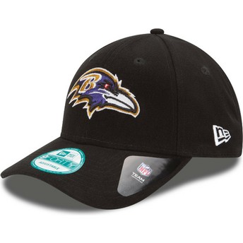 Cappellino visiera curva nero regolabile 9FORTY The League di Baltimore Ravens NFL di New Era