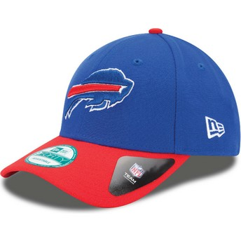 Cappellino visiera curva blu e rosso regolabile 9FORTY The League di Buffalo Bills NFL di New Era