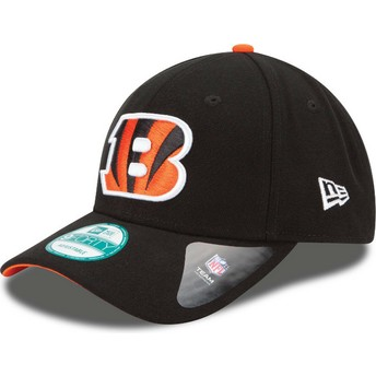 Cappellino visiera curva nero regolabile 9FORTY The League di Cincinnati Bengals NFL di New Era