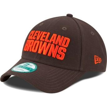 Cappellino visiera curva marrone regolabile 9FORTY The League di Cleveland Browns NFL di New Era