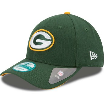 Cappellino visiera curva verde regolabile 9FORTY The League di Green Bay Packers NFL di New Era