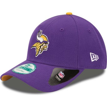 Cappellino visiera curva viola regolabile 9FORTY The League di Minnesota Vikings NFL di New Era