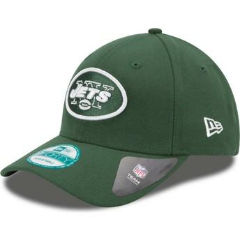 Cappellino visiera curva verde regolabile 9FORTY The League di New York Jets NFL di New Era