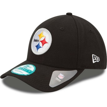 Cappellino visiera curva nero regolabile 9FORTY The League di Pittsburgh Steelers NFL di New Era