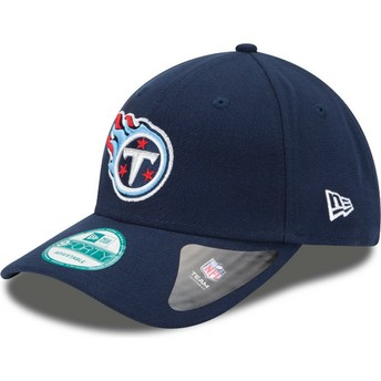 Cappellino visiera curva blu marino regolabile 9FORTY The League di Tennessee Titans NFL di New Era
