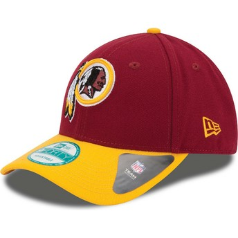 Cappellino visiera curva rosso e giallo regolabile 9FORTY The League di Washington Redskins NFL di New Era