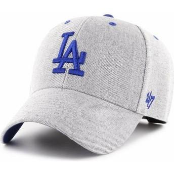 Cappellino visiera curva grigio regolabile di Los Angeles Dodgers MLB MVP Storm Cloud di 47 Brand