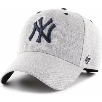 Cappellino visiera curva grigio regolabile di New York Yankees MLB MVP Storm Cloud di 47 Brand
