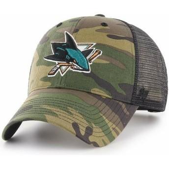 Cappellino trucker mimetico di San Jose Sharks NHL MVP Branson di 47 Brand