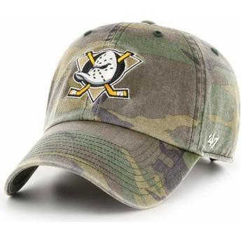 Cappellino visiera curva mimetico regolabile di Anaheim Ducks NHL Clean Up di 47 Brand