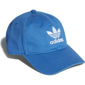 Cappellino visiera curva blu cielo regolabile Trefoil Classic di Adidas