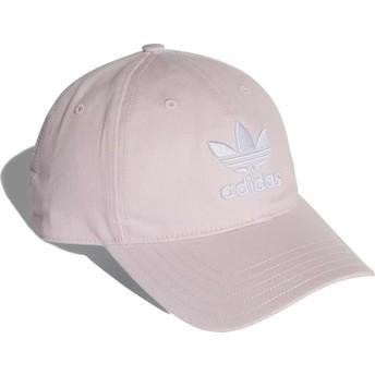 Cappellino visiera curva rosa chiaro regolabile Trefoil Classic di Adidas