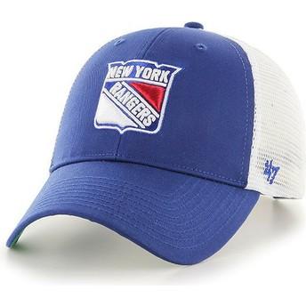 Cappellino trucker blu di New York Rangers NHL MVP Branson di 47 Brand