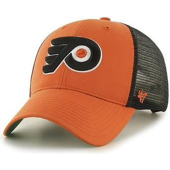 Cappellino trucker arancione di Philadelphia Flyers NHL MVP Branson di 47 Brand