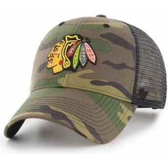 Cappellino trucker mimetico di Chicago Blackhawks NHL MVP Branson di 47 Brand