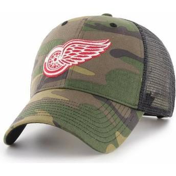 Cappellino trucker mimetico di Detroit Red Wings NHL MVP Branson di 47 Brand
