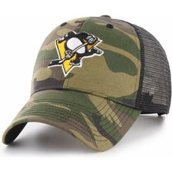 Cappellino trucker mimetico di Pittsburgh Penguins NHL MVP Branson di 47 Brand