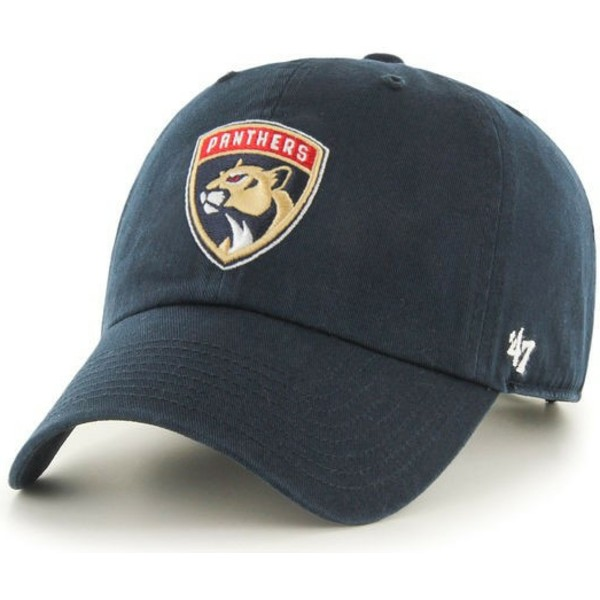 cappellino-visiera-curva-blu-marino-di-florida-panthers-nhl-clean-up-di-47-brand