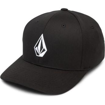 Cappellino visiera curva nero aderente Full Stone Xfit Black di Volcom