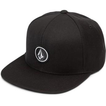 Cappellino visiera piatta nero snapback Quarter Twill Black di Volcom