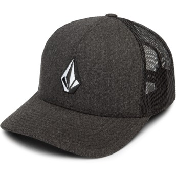Cappellino trucker nero Full Stone Cheese Charcoal Heather di Volcom