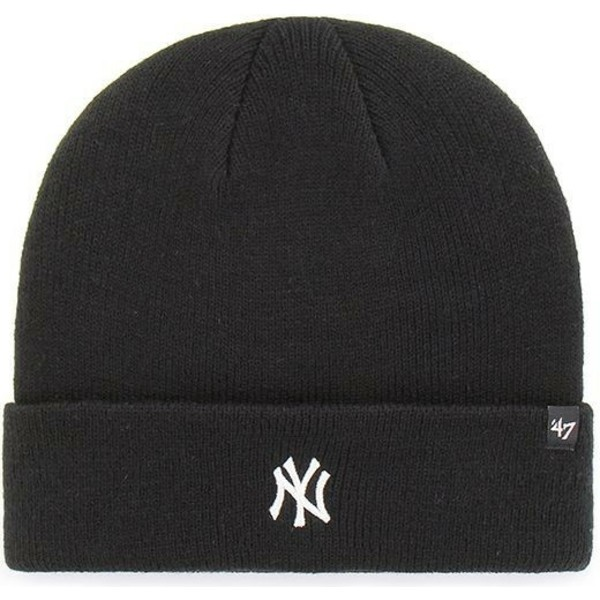 berretto-nero-di-new-york-yankees-mlb-cuff-knit-centerfield-di-47-brand