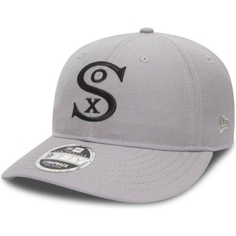Cappellino visiera curva grigio regolabile 9FIFTY Low Profile City Series di Chicago White Sox MLB di New Era